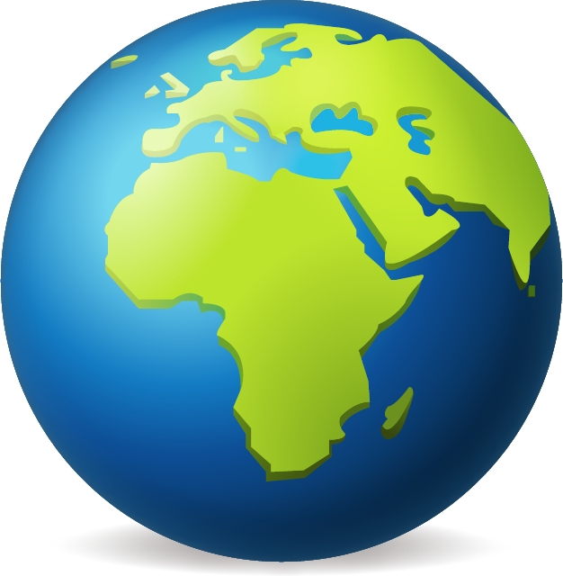 A globe emoji, with the focus on Africa